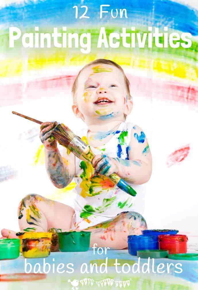 its never too early to start introducing creative activities to children here are 12 fun - Children Painting Images