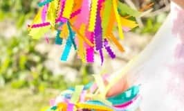 See how to make colourful pom poms for your budding dancer or cheerleader. A great kids craft to inspire creativity and self expression and develop gross motor skills.
