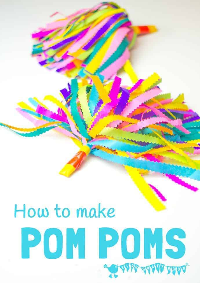 how to make cheerleader pom poms kids craft room