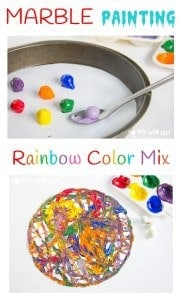 Rainbow Color Mix Marble Painting