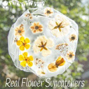 Suncatcher Flower Craft For Kids