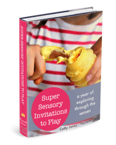 Super Sensory Invitations To Play - a fabulous ebook to explore through the senses all year round.