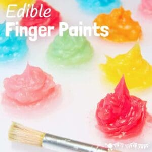 EDIBLE FINGER PAINT RECIPE - An easy homemade sensory, edible finger paint recipe that kids of all ages will adore exploring. This kids painting idea is so fun. Taste safe finger paint isn't just for babies and toddlers! #sensory #sensoryplay #sensoryrecipes #paintrecipes #ediblepaint #ediblesensoryplay #fingerpaints #kidsart #kidscrafts #craftsforkids #kidscraftroom #sensorybins #painting #kidsactivities #preschool #prek #ECE #earlyyears