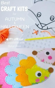 Our top picks from the Baker Ross craft kit collection for Autumn and Halloween.