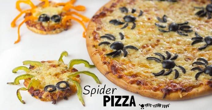 Halloween Spider Pizza - Kids Craft Room