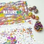 Painting With Nature - process art.
