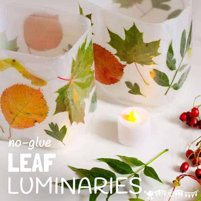 DIY Leaf Luminaries - Kids Craft Room