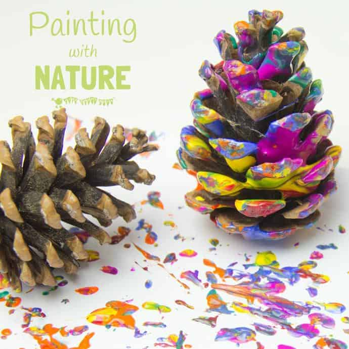 Painting with Nature is an exciting process art technique allowing kids to explore textures and patterns in a fun and open-ended way.