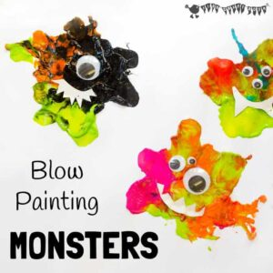 Blow Painting Monster Craft