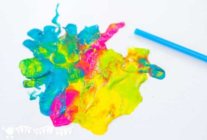Blow-painting-with-a-straw-to-make-monster-craft