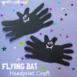 Handprint Bat Craft