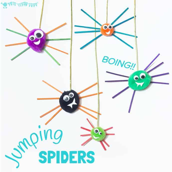 check out this jumping spider craft these are the cutest bounciest