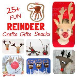 Reindeer Crafts, Activities, Snacks and Gifts