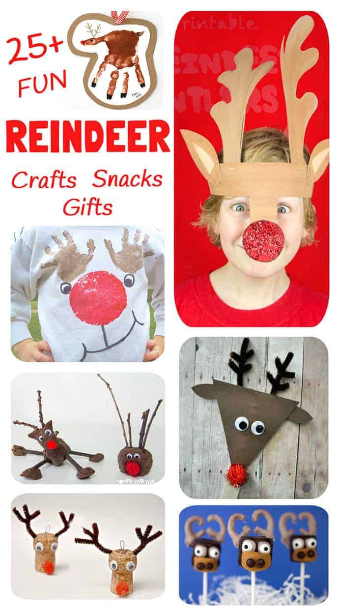 Here's 25+ fantastic reindeer ideas in one place! We've got reindeer crafts, reindeer play ideas, reindeer snacks and reindeer gifts to make. Have fun!
