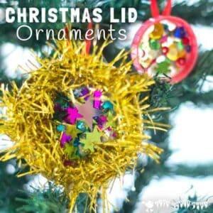 Christmas Lid Ornaments