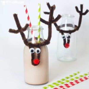 Christmas Reindeer Bottle Toppers