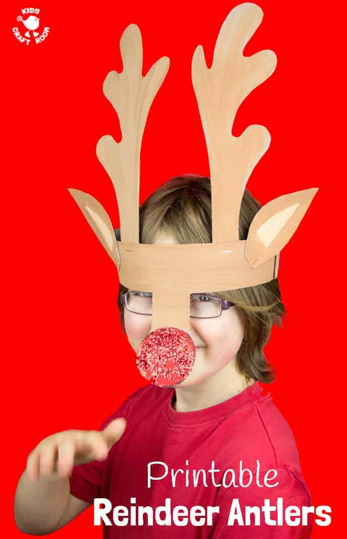 Printable Reindeer Antlers To Colour