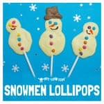 SNOWMAN POPSICLES Kids will love cooking up their own tasty white chocolate Snowman Popsicles. They make delicious homemade gifts too.