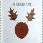leaf reindeer Christmas cards