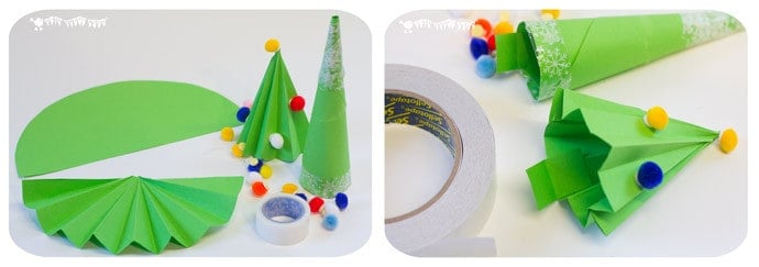 Christmas-Gift-Wrapping-Ideas-making-paper-trees