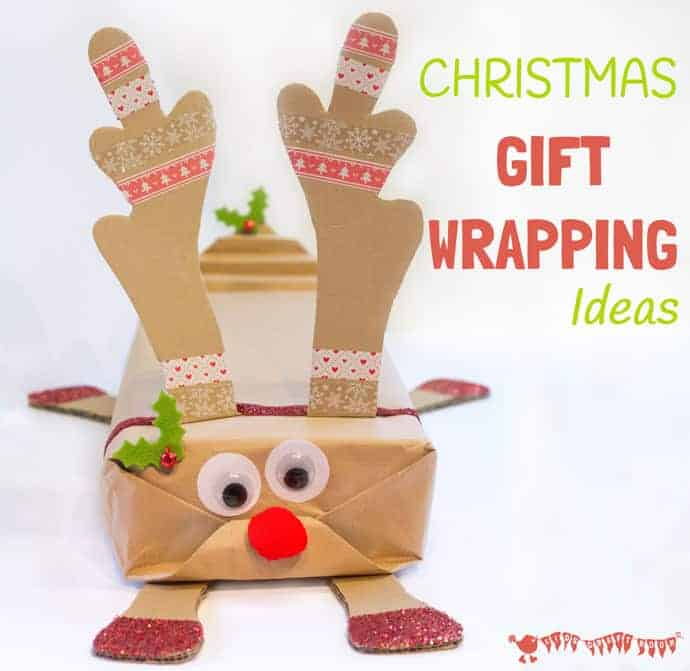 Attractive Arts And Crafts Ideas For Christmas Gifts Part - 10: Fun And Creative Christmas Gift Wrapping Ideas For Kids. Great Way To  Personalise Presents And