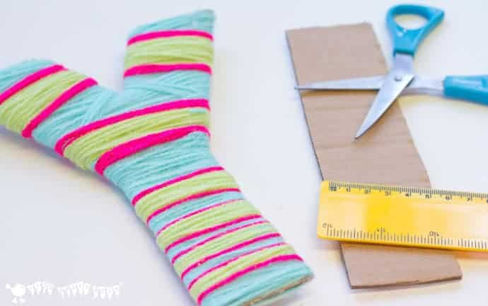 kids and grown ups will love this yarn wrapped diy wall letter craft a