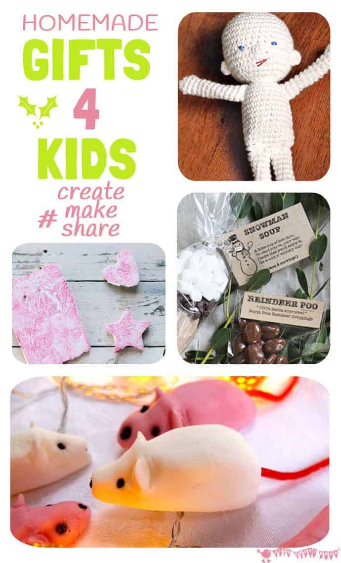 HOMEMADE GIFTS FOR KIDS - December's featured posts from #CreateMakeShare on Kids Craft Room.