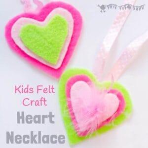 Heart Necklace – Kids Felt Craft