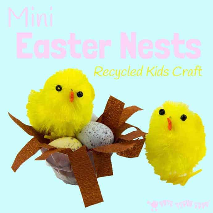 Mini-Easter-Nests-Recycled-Kids-Craft-square