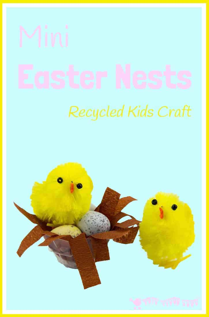 Mini Easter Nests Recycled Kids