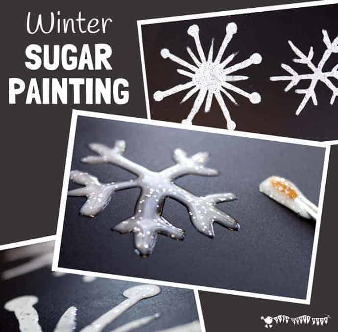 Winter Sugar Painting For Kids Kids Craft Room