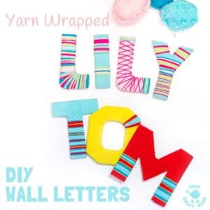 Yarn Wrapped DIY Wall Letters