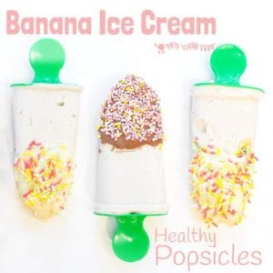 Healthy Banana Ice Cream Popsicles