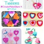 Create Make Share is here featuring 8 FANTASTIC HEART CRAFTS FOR TWEENS & TEENS. There's tasty sweets, pretty jewellery and decorations to make a bedroom super cute! Enjoy them on your own or with your BFF...you're going to LOVE them!