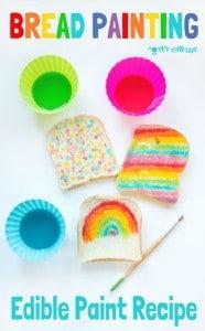 Edible Paint Recipe – Rainbow Bread
