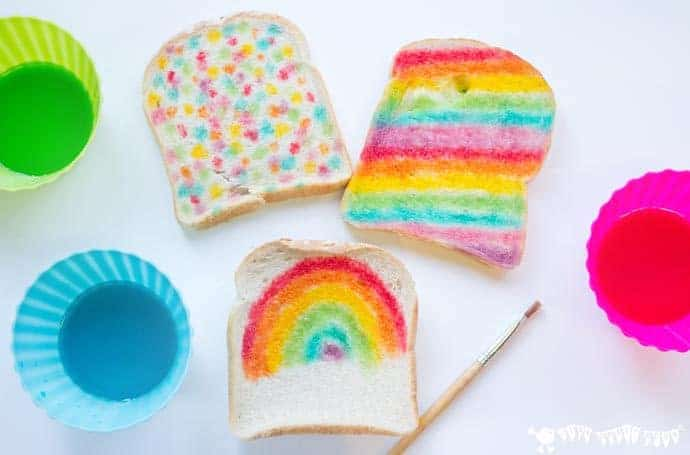 Edible paint recipe rainbow bread kids craft room for Craft paint safe for babies
