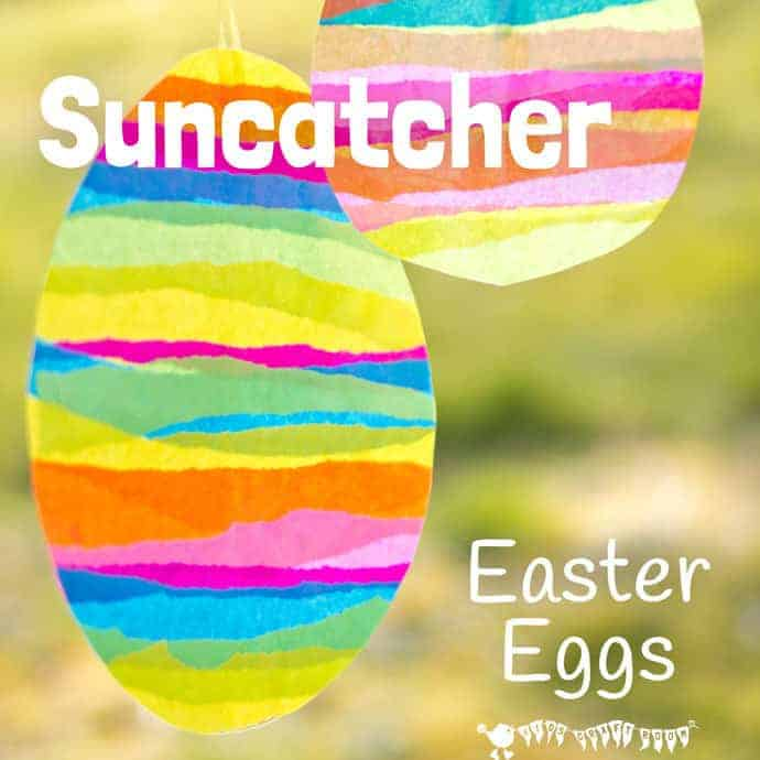 Easter Egg Suncatcher Craft With Tissue Paper