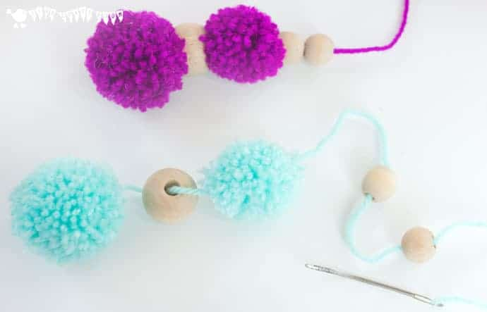 How-to-make-a-pom-pom-mobile-step-2