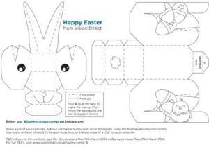 photograph regarding Easter Bunny Printable Template identified as 3D Easter Bunny Printable - Children Craft Place
