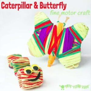 Caterpillar and Butterfly Craft