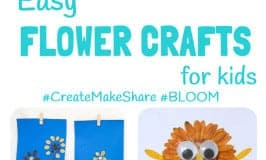EASY FLOWER CRAFTS FOR KIDS - Summer is the perfect time of year to get kids looking at, enjoying and learning about flowers.