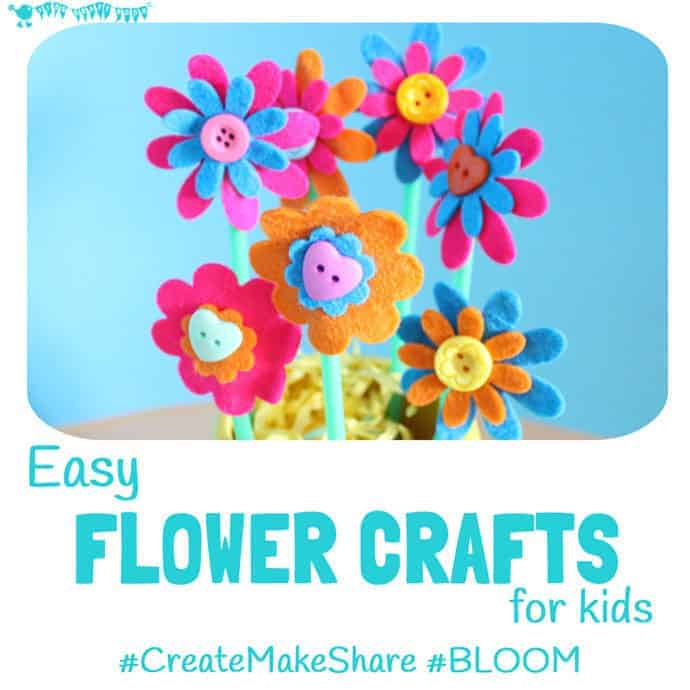 Easy Flower Crafts For Kids Createmakeshare 6 Kids Craft Room