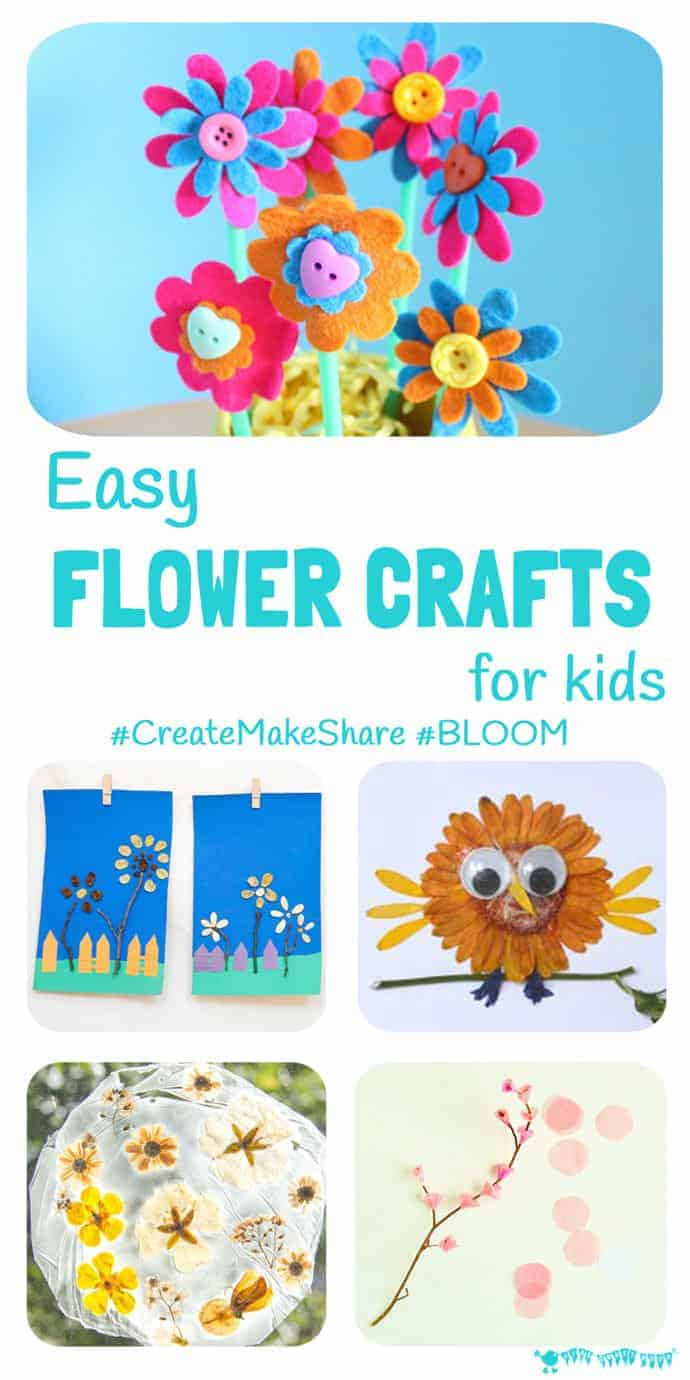 Easy Flower Crafts For Kids Createmakeshare 6 Kids Craft Room