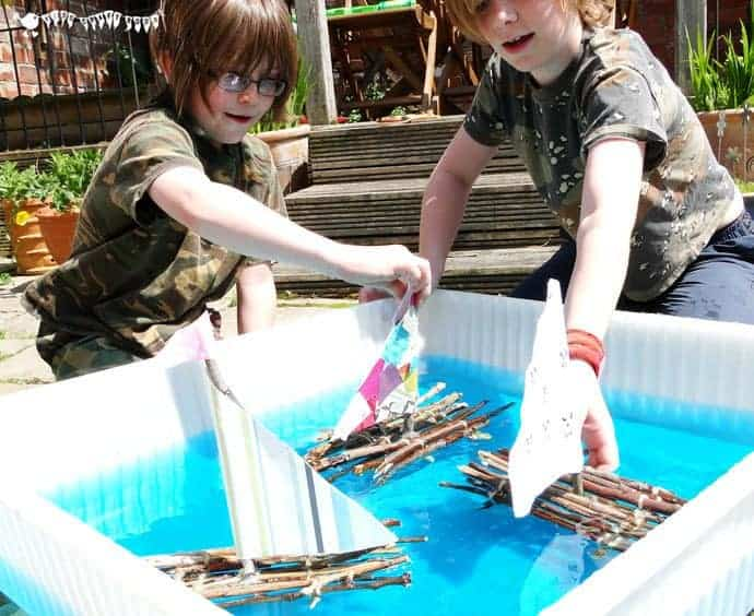 Stick Raft Building STEM Project - Kids Craft Room