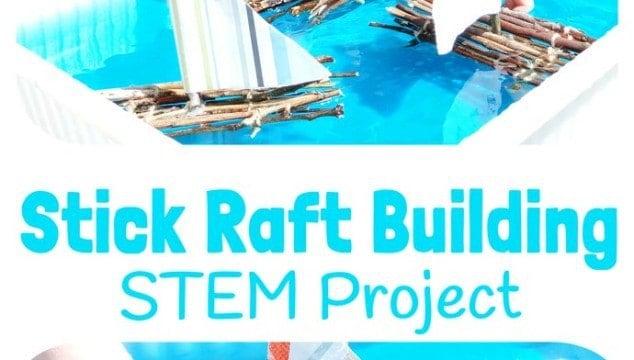 Stick Raft Building STEM Project