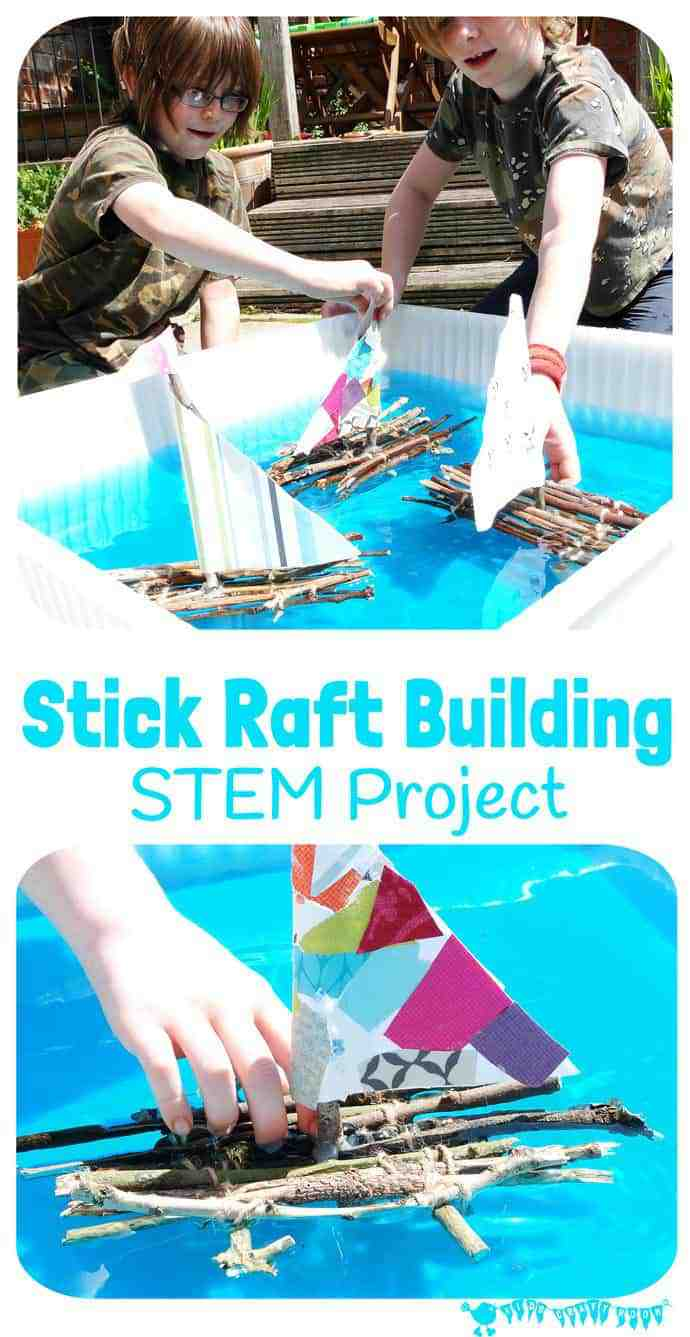 Stick Raft Building STEM Project - Kids Craft Room