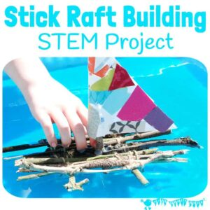 Stick Raft Building STEM Project