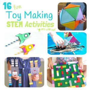 Toy Making STEM projects - inspire kids skill building in Science, technology, Engineering and Math with these STEM activities.