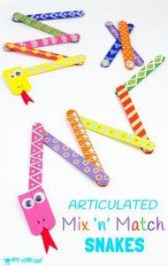 Mix 'N' Match Articulated Snake Craft