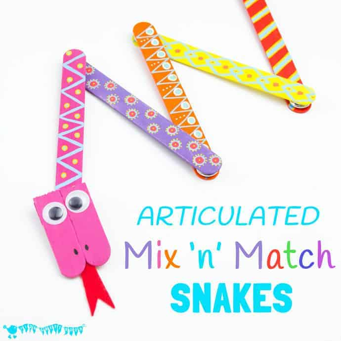 Mix 'N' Match Articulated Snake Craft